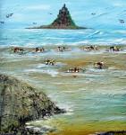 arts,peinture,acrylique,marine,paysage